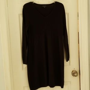 🌻 Lands End sweater dress. V-neck w/ cable stitch